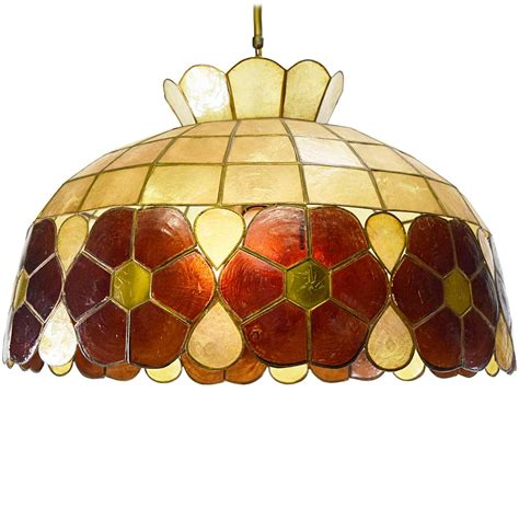 Large Capiz Chandelier Large Capiz Chandelier Vintage Info All About Vintage Lighting