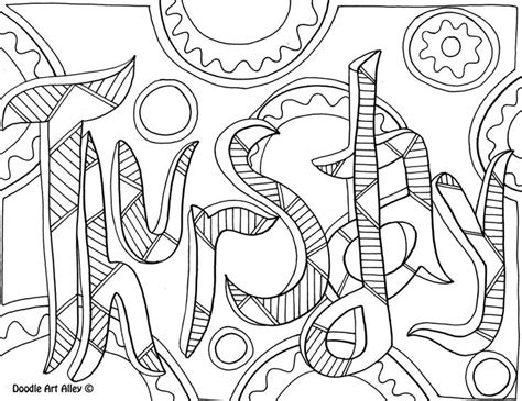doodle alley calendar thursday jpg coloring pages
