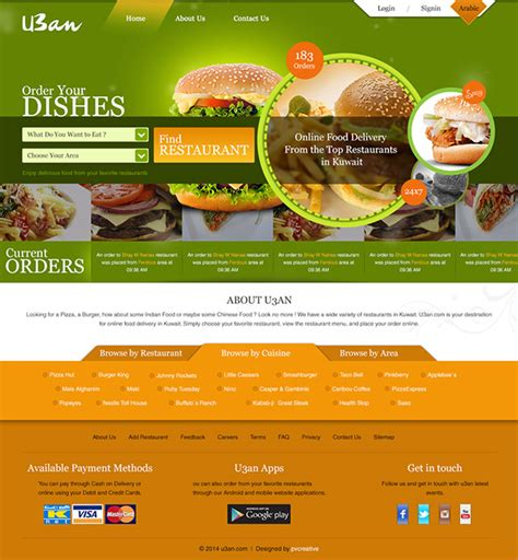 Online Food Delivery Website Template On Behance Food Delivery Website Templates Free