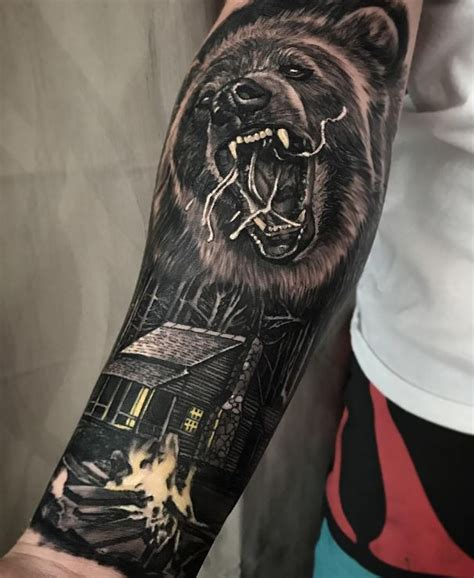 wild bear tattoo inkstylemag