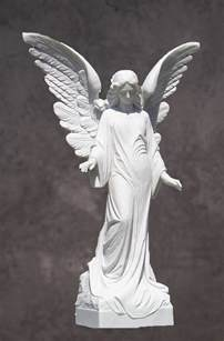 Angel Sculptures by Italian Hand Carved Marble Angel Statue