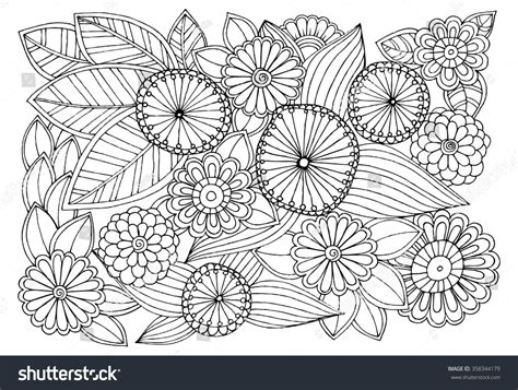 dragons an coloring book with beautiful and relaxing coloring pages gift for doodle floral pattern black white page stock vector