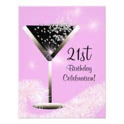 bubbly cocktail 21st birthday invitation 4 25 quot x 5 5