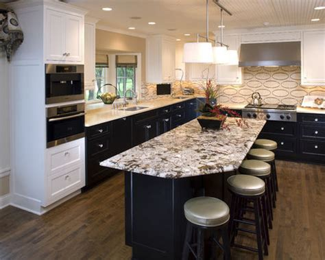 kitchen islands with granite countertops two different countertop houzz