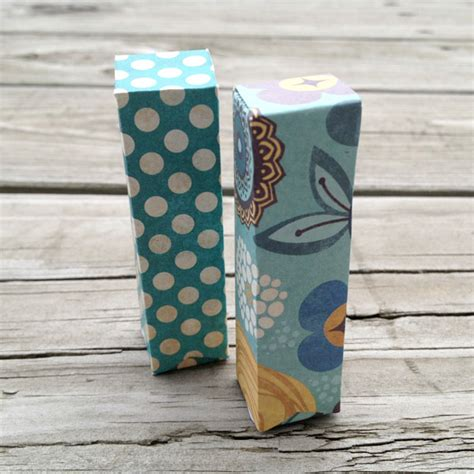 Pretty Craft Paper - tip make pretty lip balm packaging using spare card