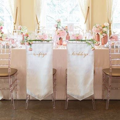 Wedding Banner Set by And Hubby Embroidered Chair Banner Set Weddingstar