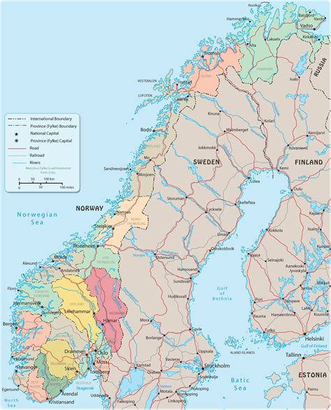 norway europe map norway travel europe