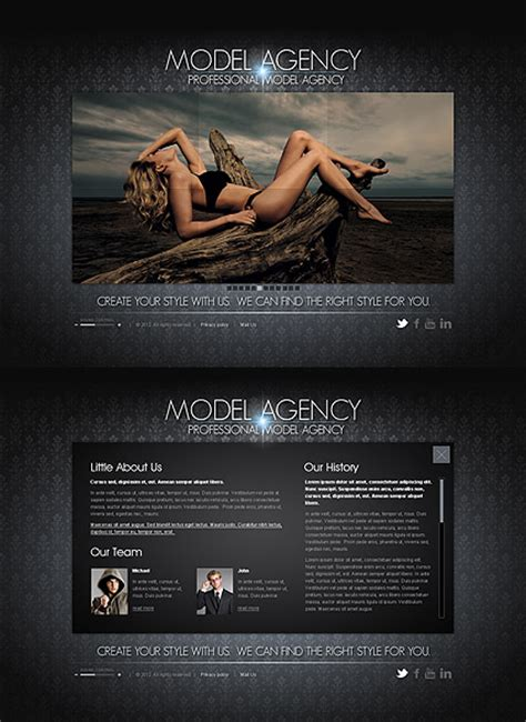 Model Agency Html5 Template Best Website Templates Model Agency Template