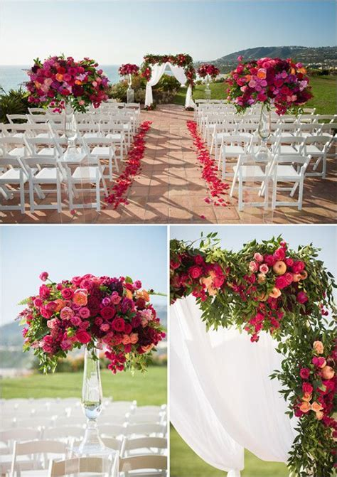 Glam Shades of Pink Wedding   Little Hill Floral Designs