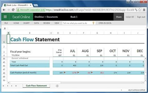flow statement template excel free financial report templates for excel