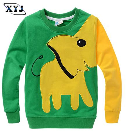 Vebita Elephant Casual Shirt 2016 autumn elephant t shirt for sleeve t shirt boys casual shirt boy pullover