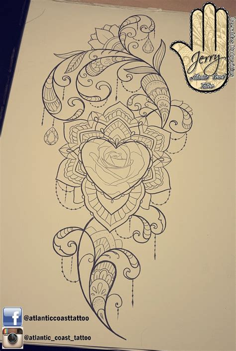 atlantic tattoo beautiful idea design for a thigh arm by