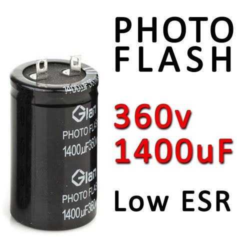 photoflash capacitor photo flash capacitor 1400uf 360v pulse strobe low esr photoflash foto 330v ebay