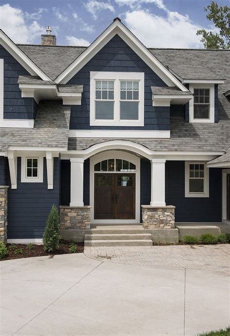 best exterior trim colors best 25 navy blue houses ideas on pinterest blue house
