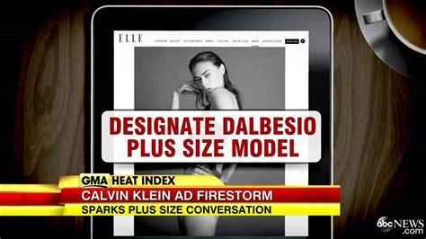 Calvin Klein S Plus Size Model Sparks Controversy - calvin klein plus size model sparks controvers youtube