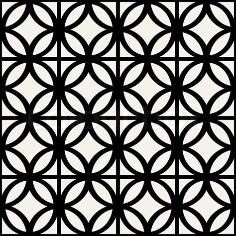 pattern simple black and white abstract geometric background modern seamless pattern