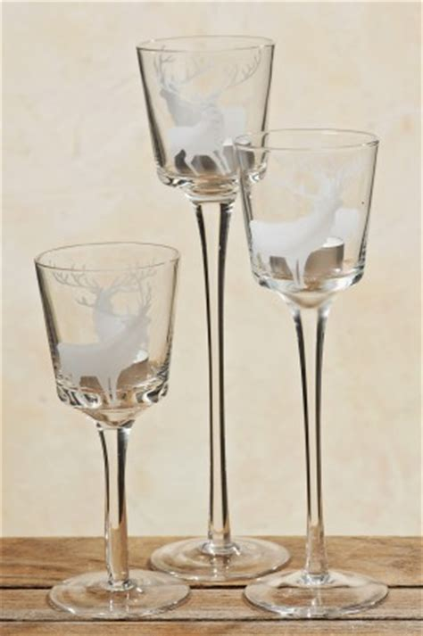 kerzenhalter kelch glas windlicht teelichthalter glas kelch antik