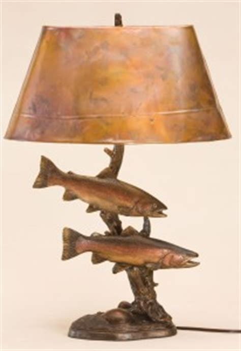 fly fishing home decor rainbow trout sculpture l stream of light cabin