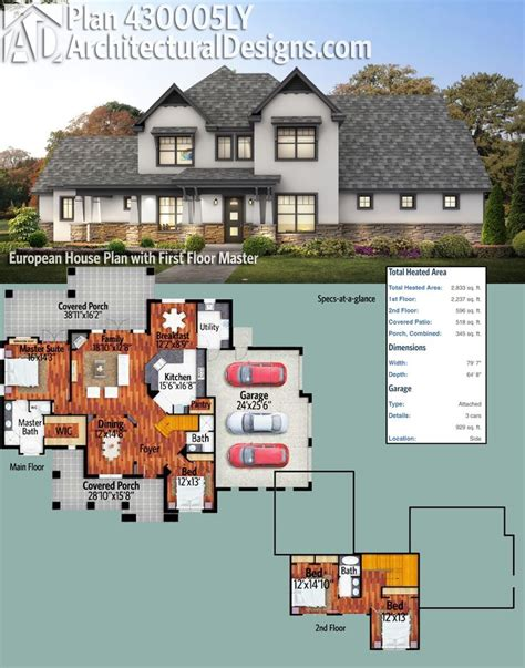 plan 430005ly european house plan with floor master