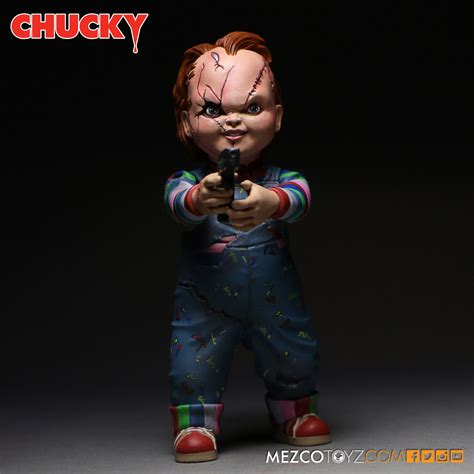 figure vs doll child s play chucky figure and replica doll pre orders by