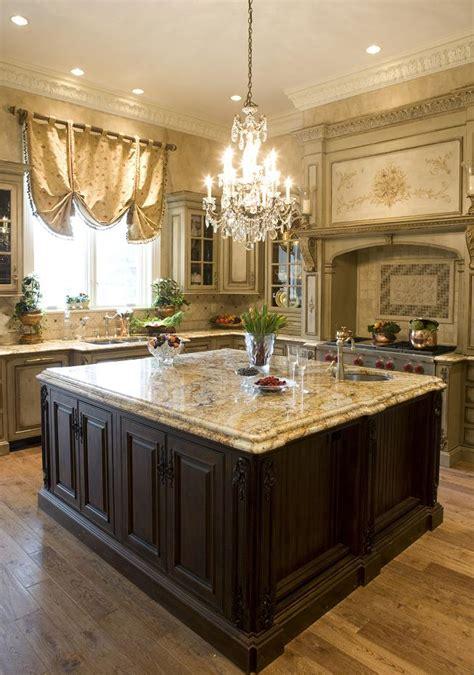Custom kitchen island provides key focal point habersham home