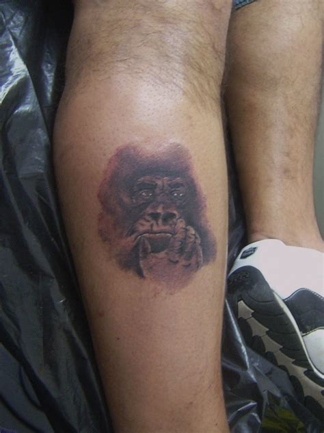gorilla tattoo gorilla portrait tattoos photo 7126002 fanpop