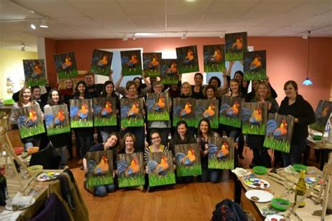 paint nite in ct cork canvas paint nite picture of the pottery factory