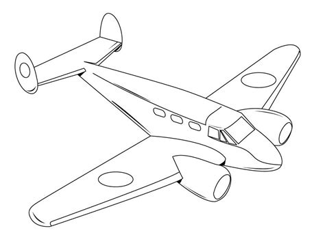airplanes drawings for kids coloring airplane pages