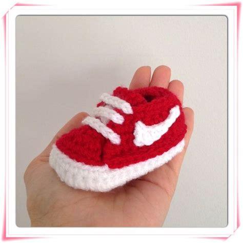 pattern crochet nike booties crochet baby nike shoes free pattern