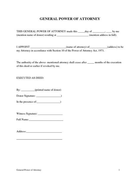 Best Photos Of Simple Power Of Attorney Printable Simple Power Of Attorney Forms Free Simple Power Of Attorney Form Template