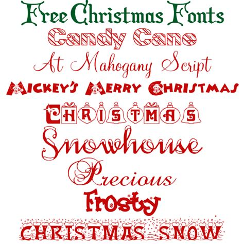 free christmas fonts allcrafts free crafts update