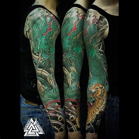image gallery japanese dragon sleeve tattoo