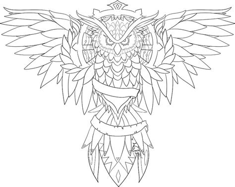 owl tattoo outline owl line drawing coloring home