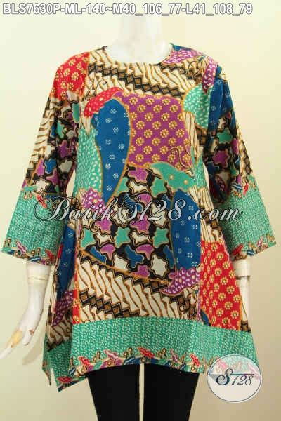 Batik Kotak baju batik modern terkini blus batik wanita 2017 model