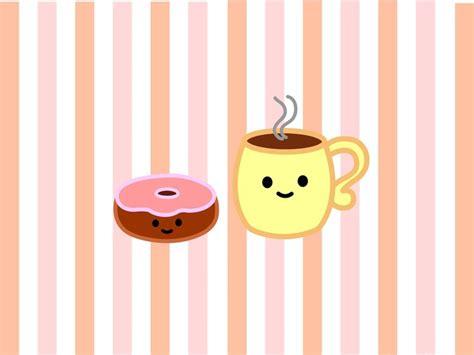 wallpaper coffee cartoon donut and coffee wallpaper cute stuff pinterest