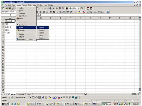 Spreadsheets Definition by Accessing Excel Spreadsheet In C