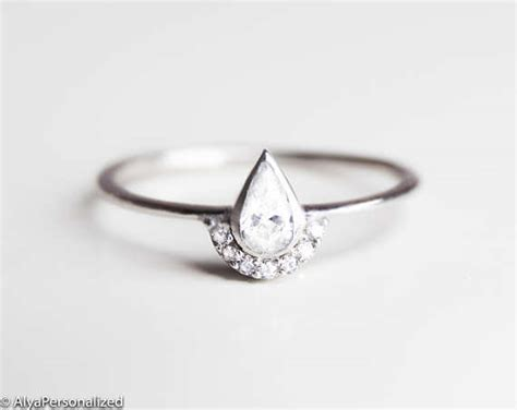 Alternative Engagement Rings by Alternative Engagement Ring Minimalist Engagement Ring