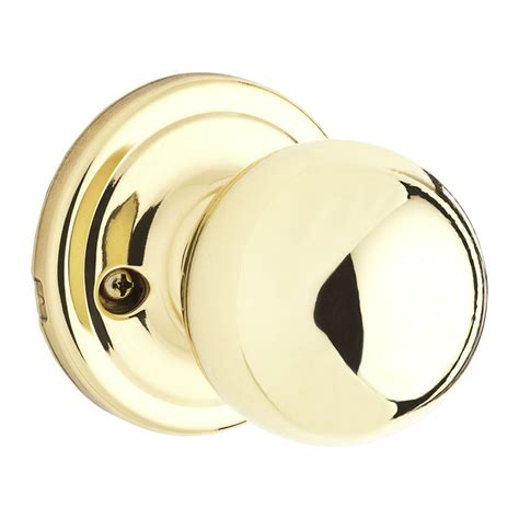 Kwikset Dummy Door Knobs by Shop Kwikset Signature Circa Polished Brass Dummy Door