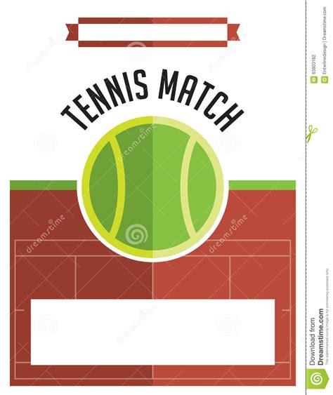 tennis templates free tennis match flyer illustration stock vector image 63803182
