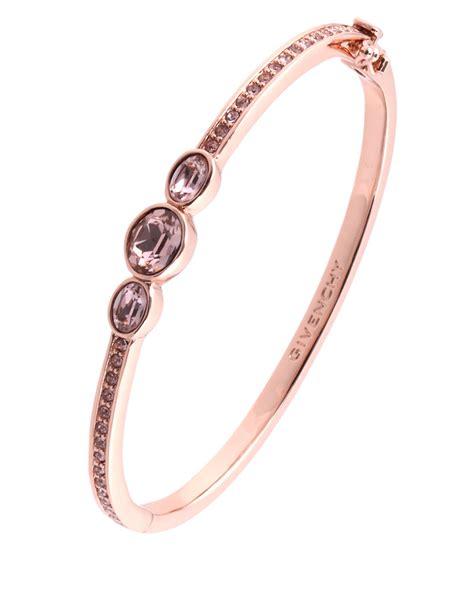 Givenchy Rose Gold And Swarovski Crystal Vintage Rose Bangle Bracelet in Pink (Rose Gold)   Lyst
