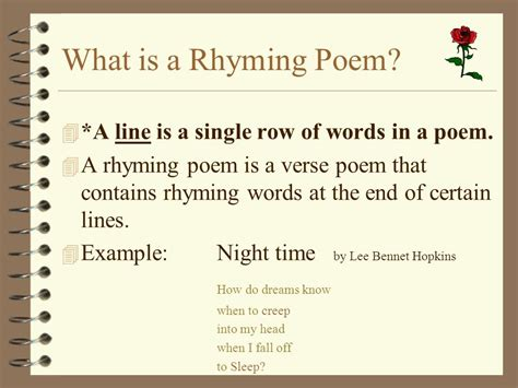 pattern of rhyming words at the end of a line what is rhyme words sound alike because they share the