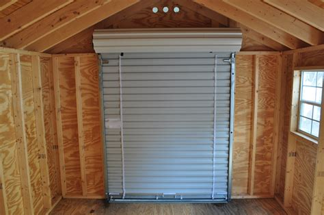 Overhead Shed Door How To Repair Roll Up Shed Doors Doors Craft