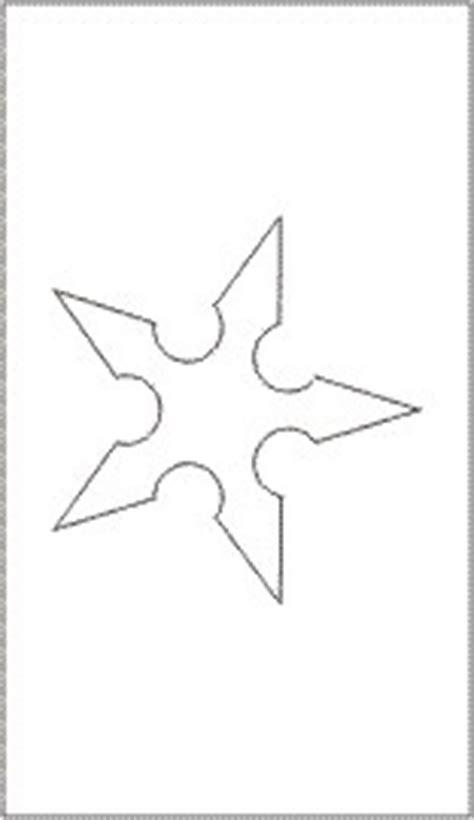 ninja star templates pinterest