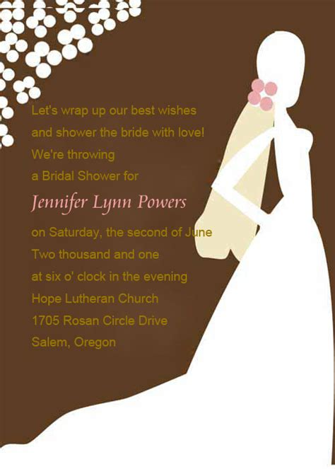 What To Say In A Bridal Shower Invitation by Wedding Shower Invitation Quotes Quotesgram