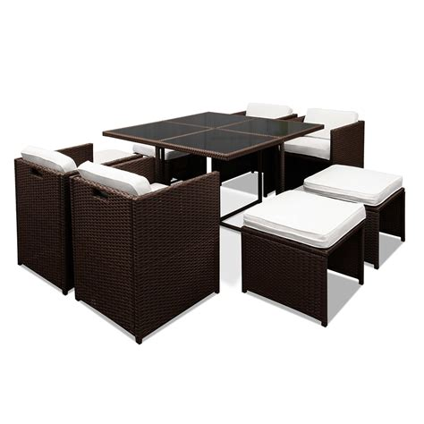 8 seater dining set brown hawaii dining 8 seater set buy online in australia