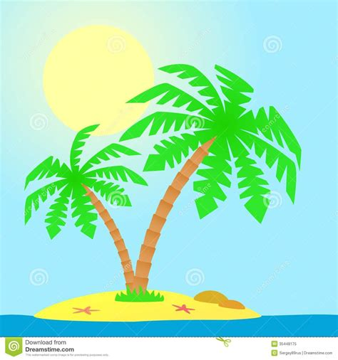 with palm tree island island with palm trees stock vector image of leaf