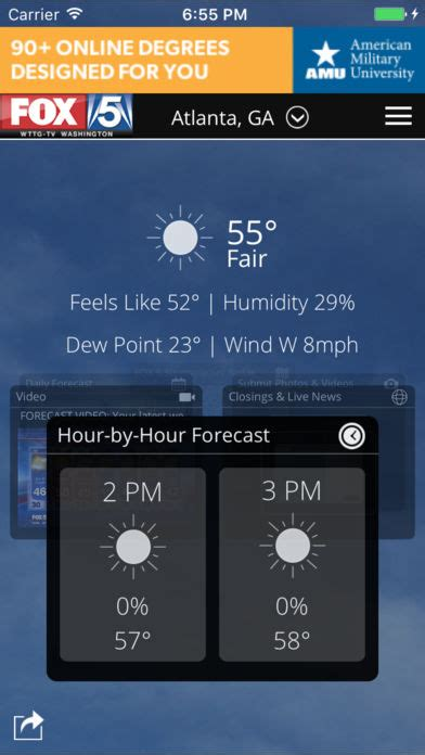 fox 4 weather official site fox 5 weather app store apps