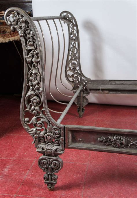 Metal Sleigh Bed Pair Of Metal Sleigh Beds At 1stdibs