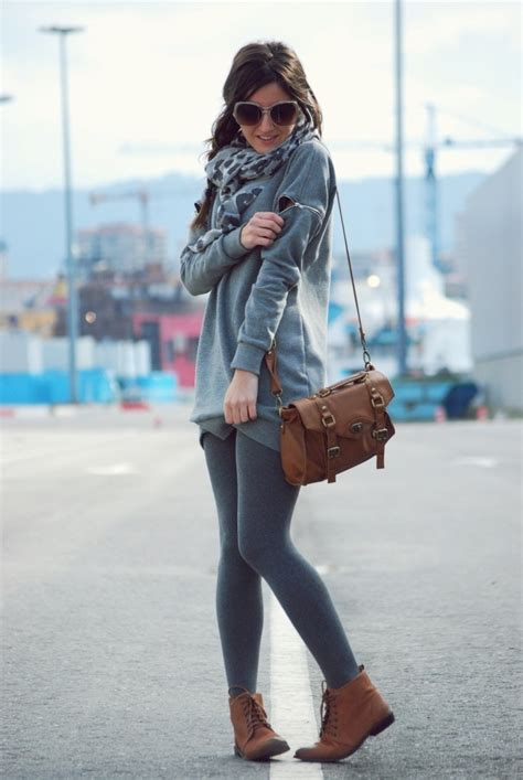 grey patterned leggings outfit grey cardigan leggings outfits stuff pinterest