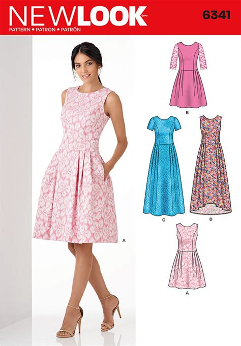 dress pattern ideas new look 6341 misses dress in three lengths